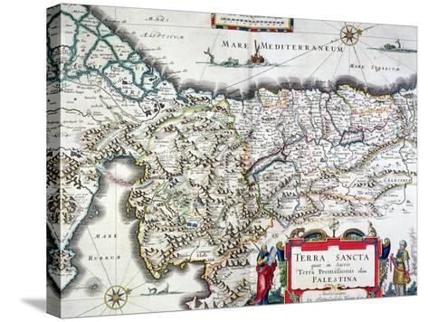 Map of the Holy Land, Published in Amsterdam, 1629-Willem Janszoon Blaeu-Stretched Canvas Print