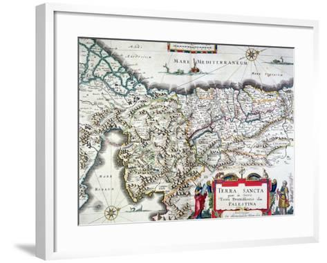 Map of the Holy Land, Published in Amsterdam, 1629-Willem Janszoon Blaeu-Framed Art Print