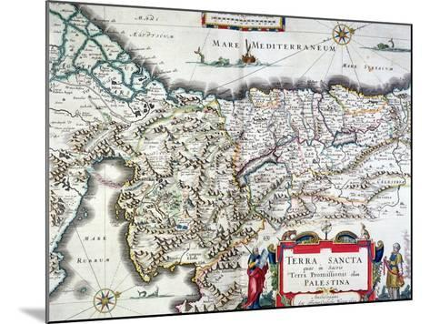 Map of the Holy Land, Published in Amsterdam, 1629-Willem Janszoon Blaeu-Mounted Giclee Print