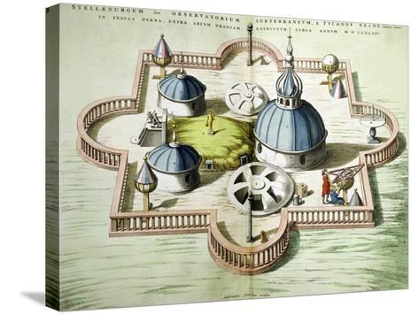 General View of the Observatory of Uraniborg, Constructed circa 1584 by Tycho Brahe-Willem And Joan Blaeu-Stretched Canvas Print