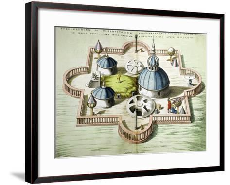 General View of the Observatory of Uraniborg, Constructed circa 1584 by Tycho Brahe-Willem And Joan Blaeu-Framed Art Print