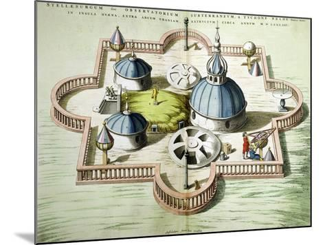 General View of the Observatory of Uraniborg, Constructed circa 1584 by Tycho Brahe-Willem And Joan Blaeu-Mounted Giclee Print