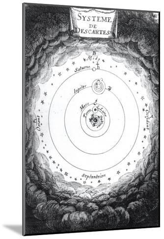 """The Solar System of Rene Descartes from """"Description De L'Univers"""" by Alain Manesson Mallet 1683--Mounted Giclee Print"""