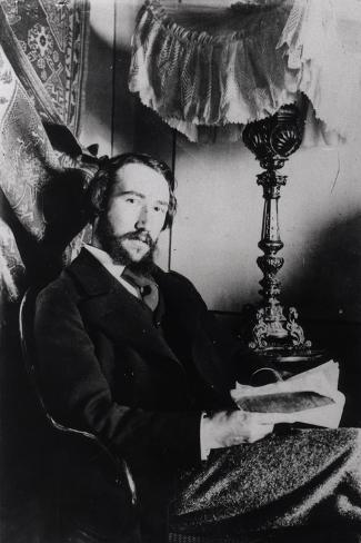 Portrait of Andre Gide in His Apartment in Paris, 1894--Stretched Canvas Print