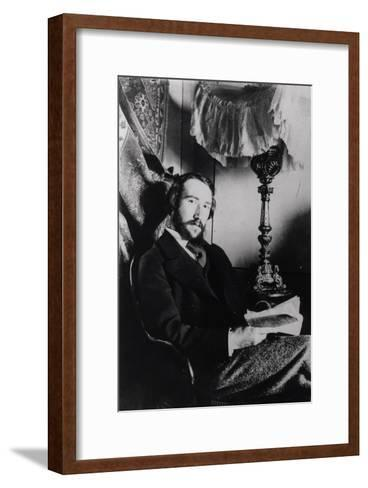 Portrait of Andre Gide in His Apartment in Paris, 1894--Framed Art Print