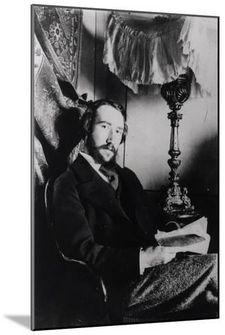 Portrait of Andre Gide in His Apartment in Paris, 1894--Mounted Giclee Print