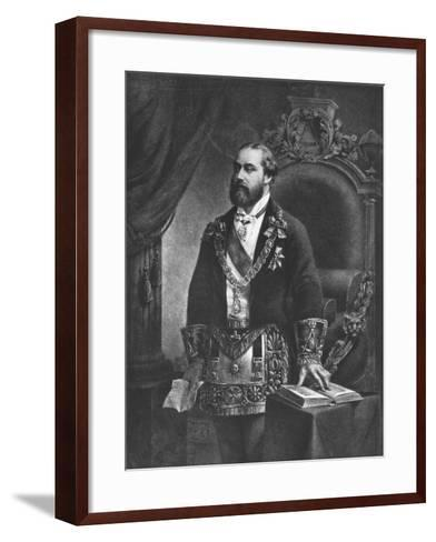 Edward Prince of Wales, Later Edward VII, as Grand Master of Freemasonry, 1884--Framed Art Print