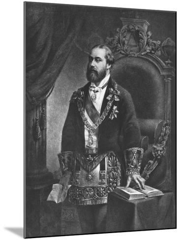 Edward Prince of Wales, Later Edward VII, as Grand Master of Freemasonry, 1884--Mounted Giclee Print