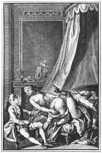 Illustration from Works by the Marquis De Sade--Stretched Canvas Print