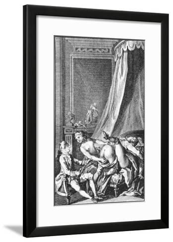 Illustration from Works by the Marquis De Sade--Framed Art Print
