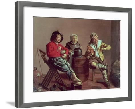 Two Boys and a Girl Making Music, 1629-Jan Miense Molenaer-Framed Art Print