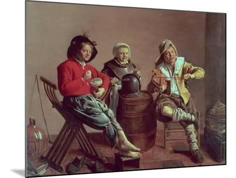 Two Boys and a Girl Making Music, 1629-Jan Miense Molenaer-Mounted Giclee Print