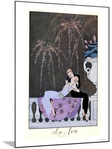 """The Fire, Illustration for """"Fetes Galantes"""" by Paul Verlaine 1924-Georges Barbier-Mounted Giclee Print"""