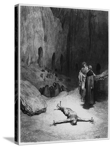 """Crucified Man, Illustration from """"The Divine Comedy"""" by Dante Alighieri Paris, Published 1885-Gustave Dor?-Stretched Canvas Print"""