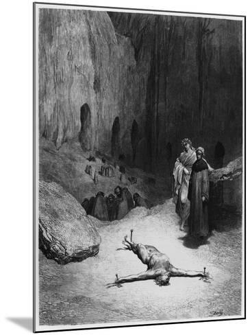 """Crucified Man, Illustration from """"The Divine Comedy"""" by Dante Alighieri Paris, Published 1885-Gustave Dor?-Mounted Giclee Print"""