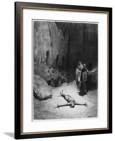 """Crucified Man, Illustration from """"The Divine Comedy"""" by Dante Alighieri Paris, Published 1885-Gustave Dor?-Framed Art Print"""