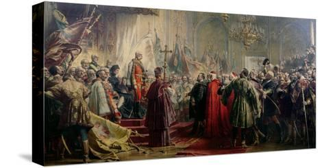 Emperor Franz Joseph I and Empress Elizabeth in Budapest, 8th July 1896-Gyula Benczur-Stretched Canvas Print