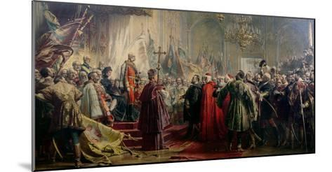 Emperor Franz Joseph I and Empress Elizabeth in Budapest, 8th July 1896-Gyula Benczur-Mounted Giclee Print