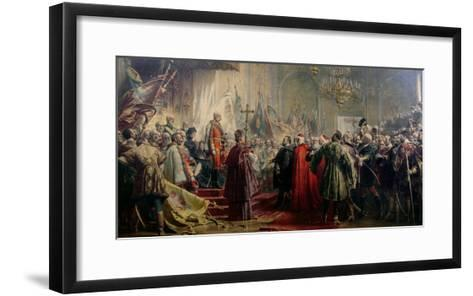 Emperor Franz Joseph I and Empress Elizabeth in Budapest, 8th July 1896-Gyula Benczur-Framed Art Print