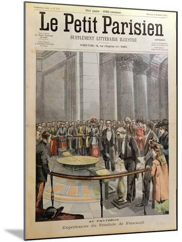 Experiment with Foucault's Pendulum at the Pantheon in Paris- Carrey-Mounted Giclee Print