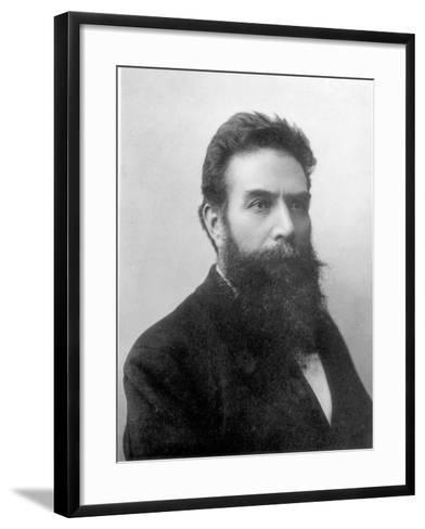 Wilhelm Konrad Roentgen circa 1896--Framed Art Print