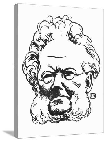 Henrik Ibsen-F?lix Vallotton-Stretched Canvas Print