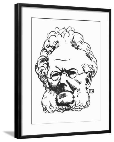 Henrik Ibsen-F?lix Vallotton-Framed Art Print