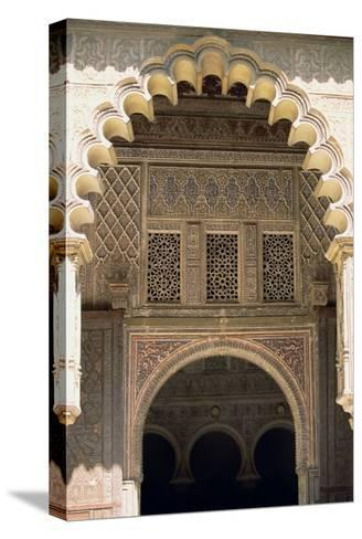 Detail of One of the Polylobed Arches from the Patio De Las Doncellas--Stretched Canvas Print
