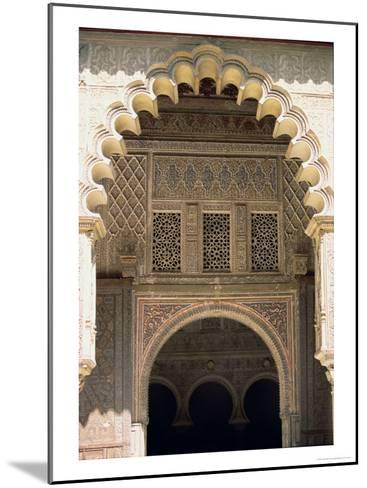 Detail of One of the Polylobed Arches from the Patio De Las Doncellas--Mounted Giclee Print