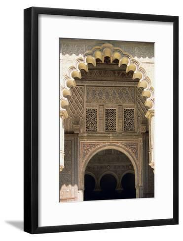 Detail of One of the Polylobed Arches from the Patio De Las Doncellas--Framed Art Print