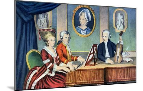 Portrait of Leopold Mozart and His Children, Wolfgang Amadeus and Maria Anna 1780-81--Mounted Giclee Print