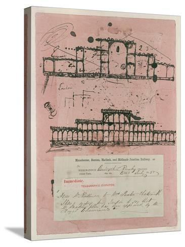 Great Exhibition, 1851: First Sketch for the Building, 1850-Sir Joseph Paxton-Stretched Canvas Print