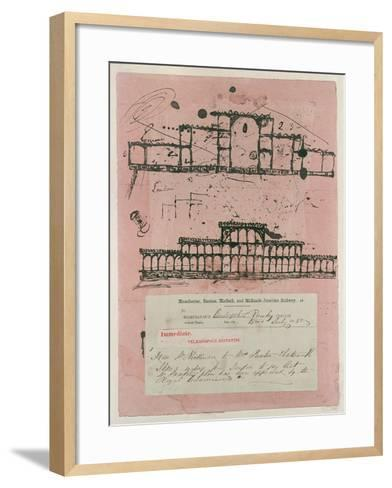 Great Exhibition, 1851: First Sketch for the Building, 1850-Sir Joseph Paxton-Framed Art Print