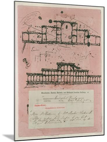Great Exhibition, 1851: First Sketch for the Building, 1850-Sir Joseph Paxton-Mounted Giclee Print