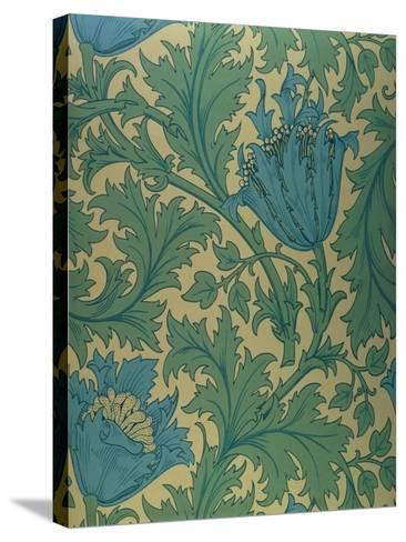 Anemone' Design-William Morris-Stretched Canvas Print