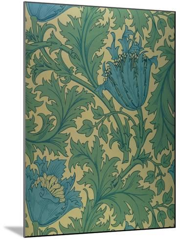 Anemone' Design-William Morris-Mounted Giclee Print