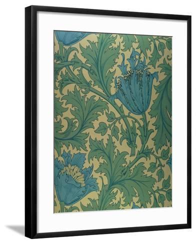 Anemone' Design-William Morris-Framed Art Print