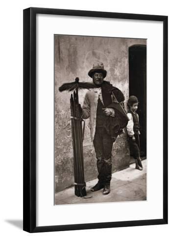 The Temperance Sweep, Woodbury Type Photograph-John Thomson-Framed Art Print