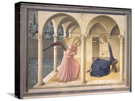 The Annunciation, circa 1438-45-Fra Angelico-Stretched Canvas Print