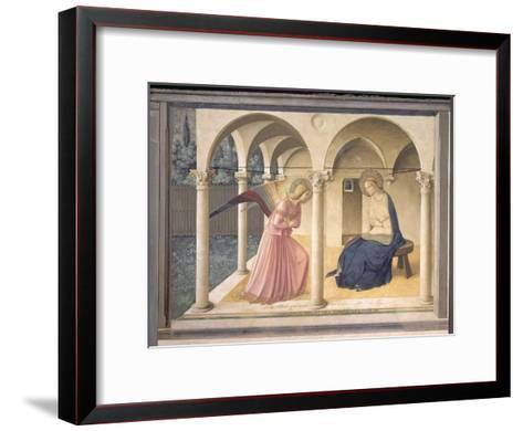 The Annunciation, circa 1438-45-Fra Angelico-Framed Art Print
