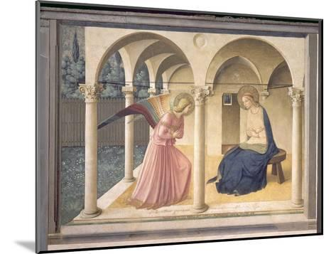 The Annunciation, circa 1438-45-Fra Angelico-Mounted Giclee Print
