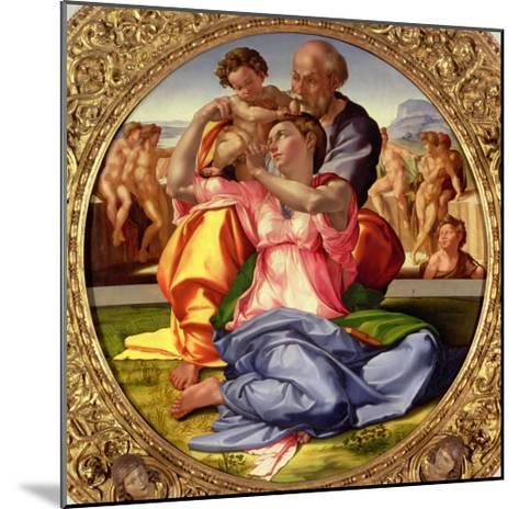 Holy Family with St. John, 1504-05-Michelangelo Buonarroti-Mounted Giclee Print