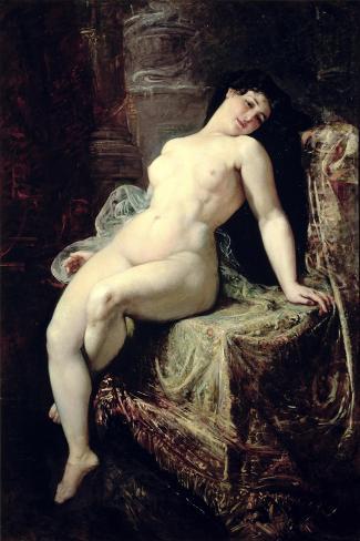 Nude-Ramon Marti Alsina-Stretched Canvas Print