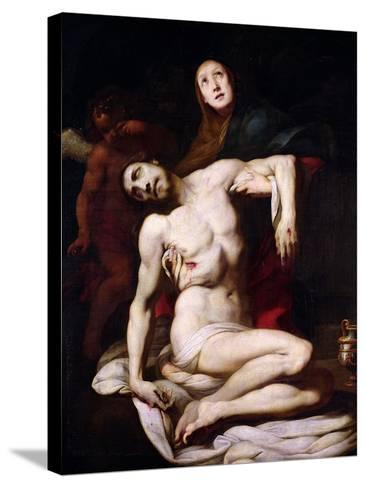 The Pieta-Daniele Crespi-Stretched Canvas Print