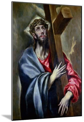 Christ Clasping the Cross-El Greco-Mounted Giclee Print