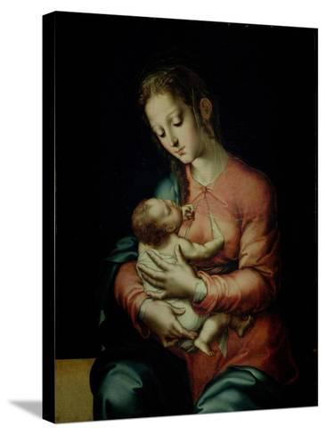 The Virgin and Child-Luis De Morales-Stretched Canvas Print