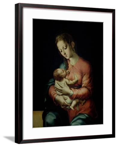The Virgin and Child-Luis De Morales-Framed Art Print