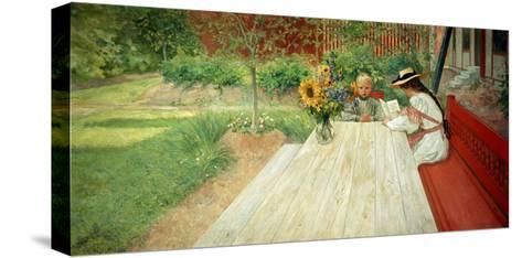 The First Lesson, 1903-Carl Larsson-Stretched Canvas Print