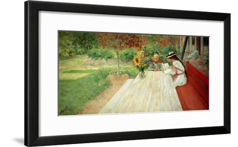 The First Lesson, 1903-Carl Larsson-Framed Art Print