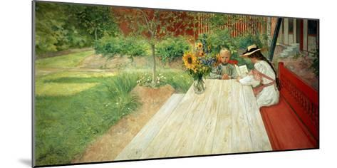 The First Lesson, 1903-Carl Larsson-Mounted Giclee Print